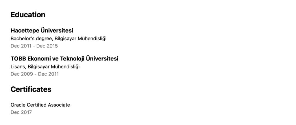 Education widget